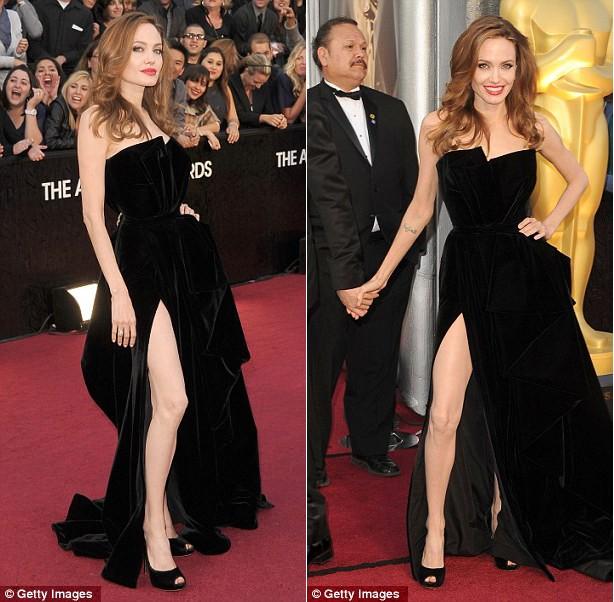 Fan tranh cãi về màn khoe chân của Jolie tại Oscar - ảnh 8