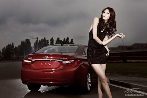 Mỹ nhân khoe sắc bên Hyundai Sonata - ảnh 8
