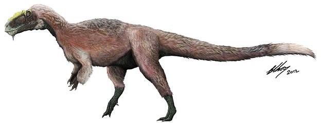 Phác họa loài khủng long Yutyrannus.