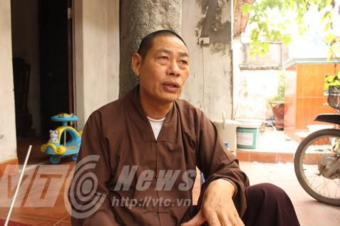 Thầy Thích Thanh Thủy, trụ trì chùa Cao Hạ