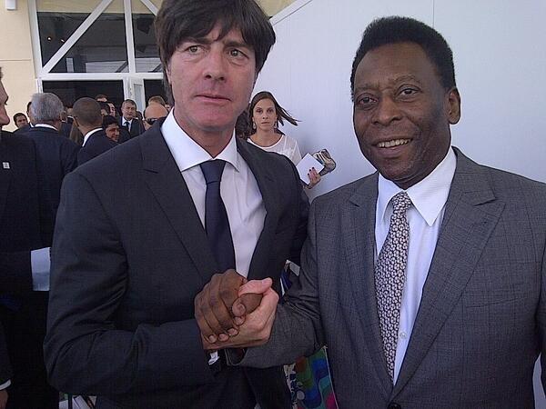 Vua bóng đá Pele và HLV tuyển Đức Joachim Loew