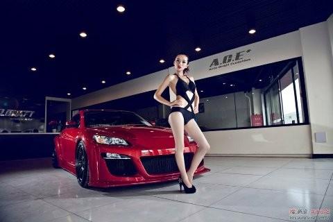 Nhan sắc nóng bỏng bên Mazda RX-8 - ảnh 7