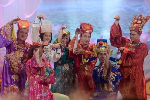 Chương trình năm nay có sự tham gia của những danh hài miền Bắc như Quốc Khánh, Quang Thắng, Xuân Bắc, Công Lý, Vân Dung, Minh Hằng, Chí Trung, Thành Trung… Ảnh: Anh Tuấn