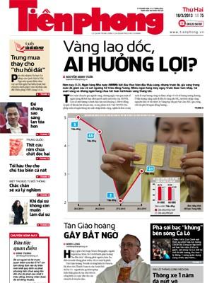 Phong cách mới trên nhật báo Tiền Phong  từ 18/3 - ảnh 1