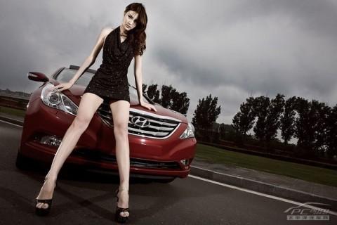 Mỹ nhân khoe sắc bên Hyundai Sonata - ảnh 14