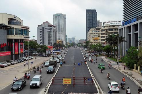 'Mục sở thị' cầu vượt lắp ghép đầu tiên ở thủ đô - ảnh 3