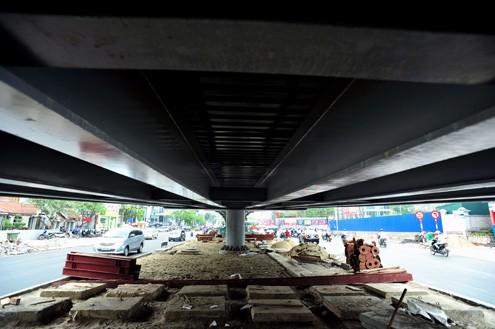 'Mục sở thị' cầu vượt lắp ghép đầu tiên ở thủ đô - ảnh 4