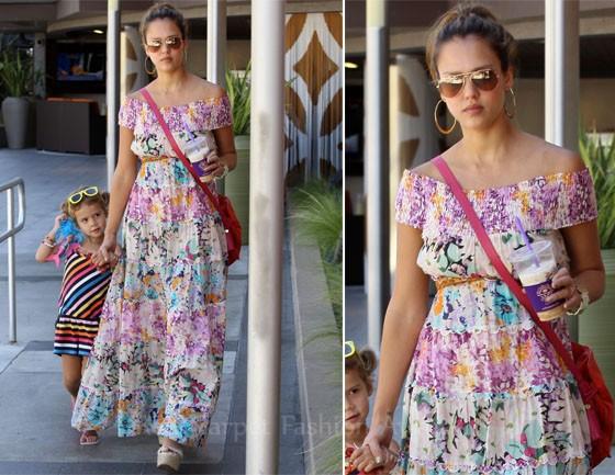 Jessica Alba mê mẩn váy maxi - ảnh 12