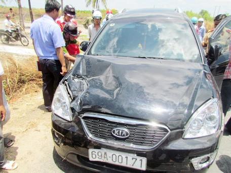 Sau 50 km chạy trốn cảnh sát, tài xế ôtô này gây ra 5 vụ tai nạn giao thông. Ảnh: Đ.X