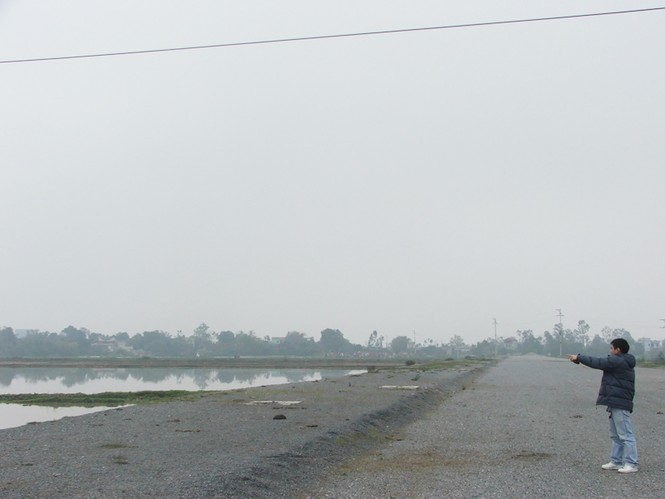 Khu ruộng của ông Ngọc đã bị thu hồi làm đường Ảnh: Minh Lê