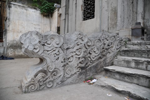 Rồng đá tại lăng mộ Hoàng Cao Khải. Ảnh minh họa N.C.Khanh