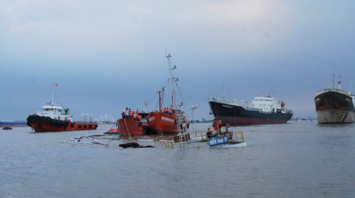 Hiện trường nơi tàu Biển Nam 17 bị chìm