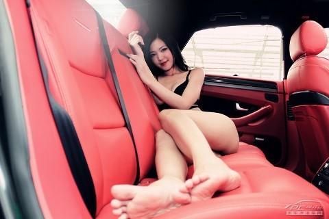 Mỹ nữ quyến rũ bên Audi A8L - ảnh 12