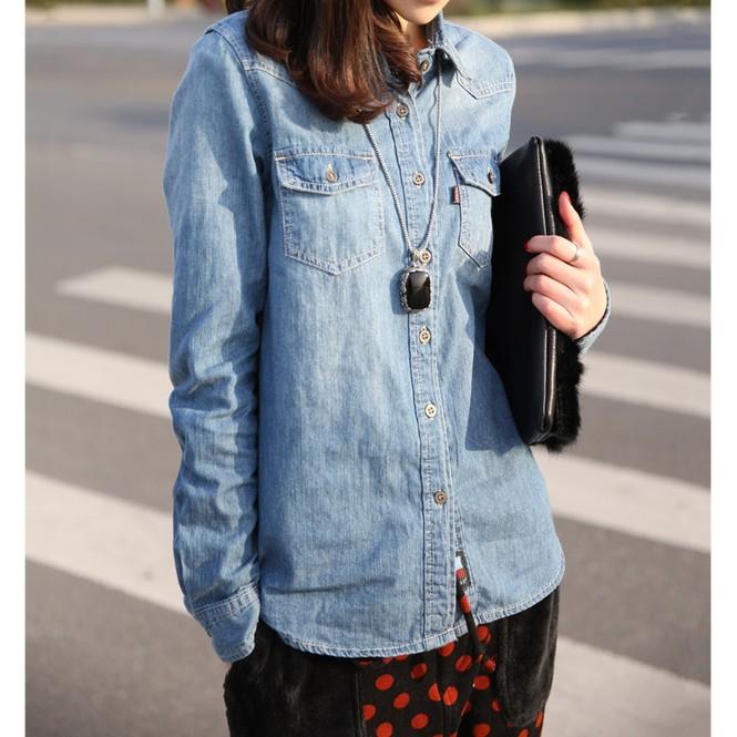 Dạo phố ngày cuối tuần với trang phục denim - ảnh 9