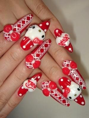Ngộ nghĩnh với nail 'Hello Kitty' - ảnh 11