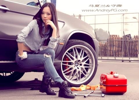 Người mẫu sexy bên xế hộp BMW - ảnh 6
