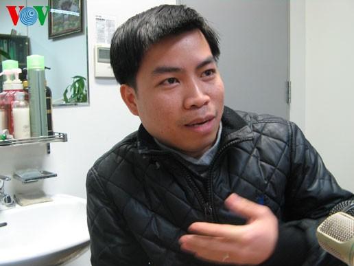 Anh Nguyễn Đình Trường, nghiên cứu sinh ở trường Đại học Konkuc
