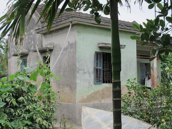 Ngôi nhà ông Hậu, nơi xảy ra thảm án gia đình
