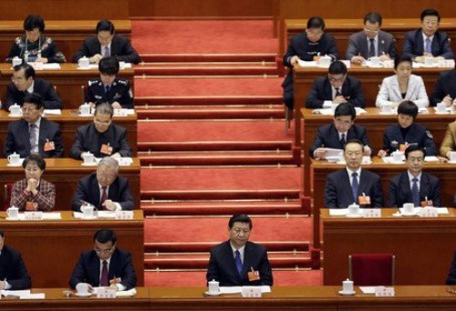 Tổng Bí thư Đảng Cộng sản Trung Quốc Tập Cận Bình tại kì họp Quốc hội Trung Quốc ngày 8/3.