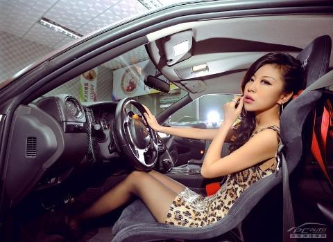 'Báo gấm' tạo dáng bên Nissan GTR - ảnh 7