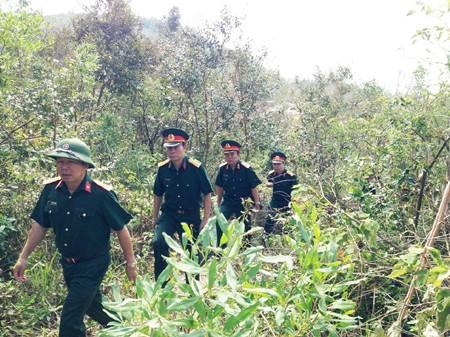 Bộ CHQS tỉnh Quảng Bình kiểm tra thực địa, bố trí lực lượng