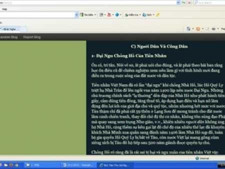 """Bài viết trên blog của ông Hoàng Hữu Phước phê phán """"tiền nhân Việt"""" """"tệ hại và ngu xuẩn"""""""