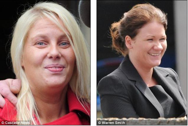 Bà Amanda Nolan (trái) và Gemma Nelson nằm trong hai đường dây tổ chức kết hôn giả của Louise