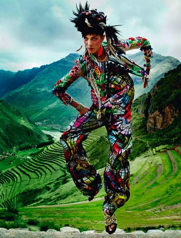 Bộ đôi siêu mẫu nóng bỏng trên Vogue Pháp - ảnh 2