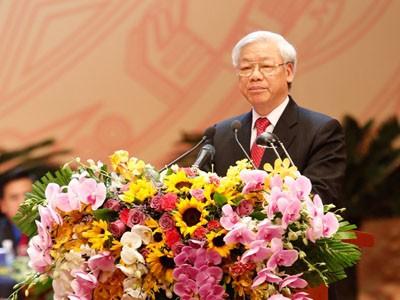 Tổng Bí thư Nguyễn Phú Trọng phát biểu tại Đại hội Đoàn lần thứ X sáng 12-12