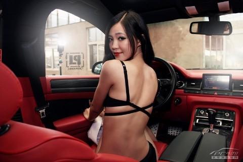 Mỹ nữ quyến rũ bên Audi A8L - ảnh 11