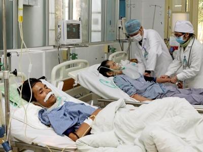 Ô nhiễm không khí làm tăng số bệnh nhân mắc bệnh phổi (Ảnh chụp tại Bệnh viện Phổi T.Ư) Ảnh: T.H