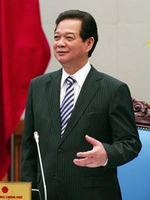 Thủ tướng Nguyễn Tấn Dũng phát biểu tại cuộc làm việc. Ảnh: VGP/Nhật Bắc