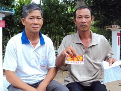 Dù sự việc đã qua 3 tháng nhưng ông Tùng vẫn còn giữ cẩn thận tờ vé số