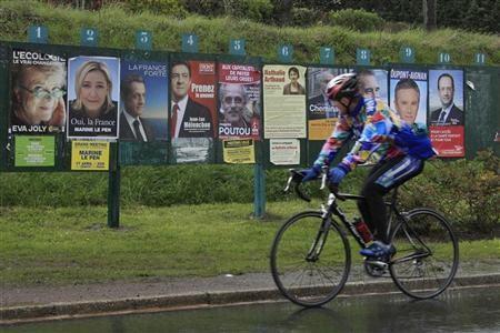 Áp phích mười ứng cử viên tổng thống có mặt ở khắp nơi
