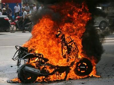 Cơ quan chức năng kết luận có năm nguyên nhân chính gây cháy nổ xe máy