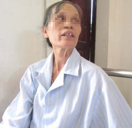 Một bệnh nhân bị tâm thần vì áp vong ở Nghệ An
