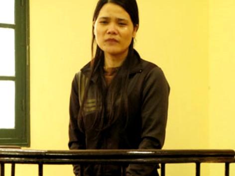 Bị cáo Thư tại tòa