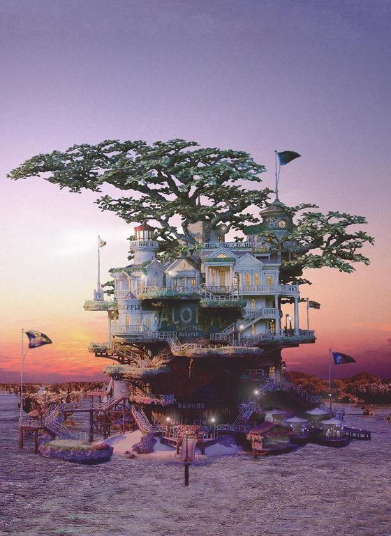 Những lâu đài 'khủng' trên cây bonsai - ảnh 2