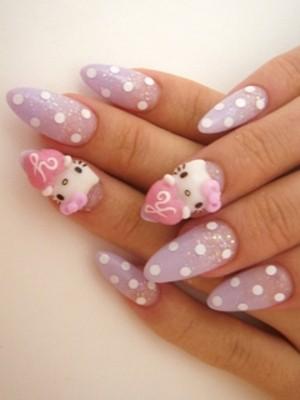 Ngộ nghĩnh với nail 'Hello Kitty' - ảnh 2