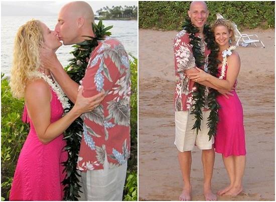 Cặp vợ chồng cưới ở Hawaii