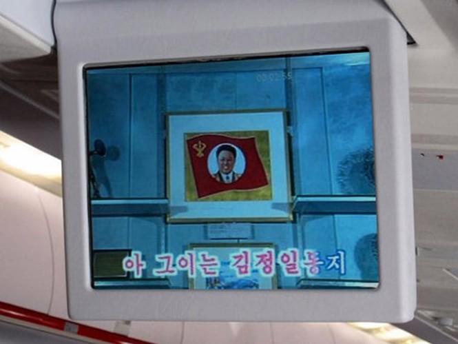 Một số mẫu máy bay chở khách mới của Air Koryo cũng được trang bị màn hình tivi.