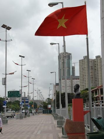 Đại lộ nối vào quảng trường mang tên Chủ tịch Hồ Chí Minh tại Caracas.