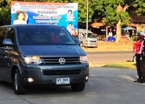 Những biển số xe may mắn liên quan đến Thủ tướng Yingluck. Ảnh: The Bangkok Post