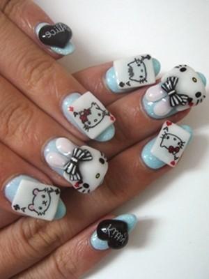 Ngộ nghĩnh với nail 'Hello Kitty' - ảnh 5