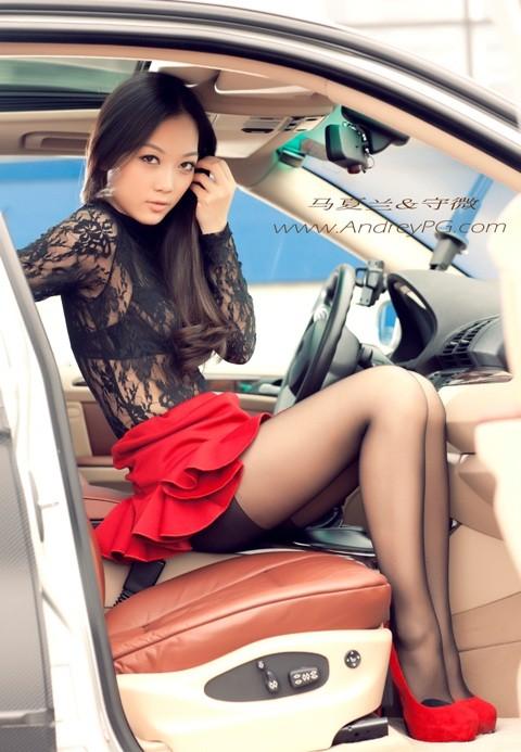 Người mẫu sexy bên xế hộp BMW - ảnh 9