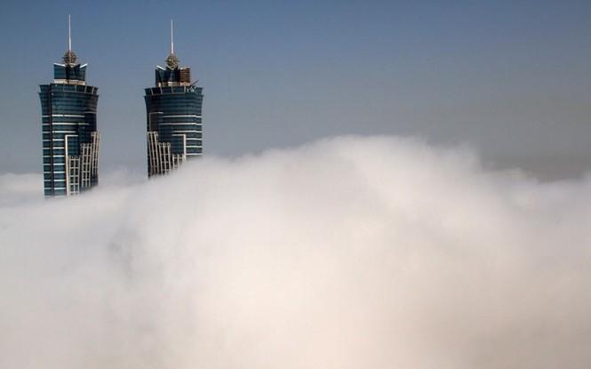 Thành phố Dubai chìm đắm trong sương mù - ảnh 14