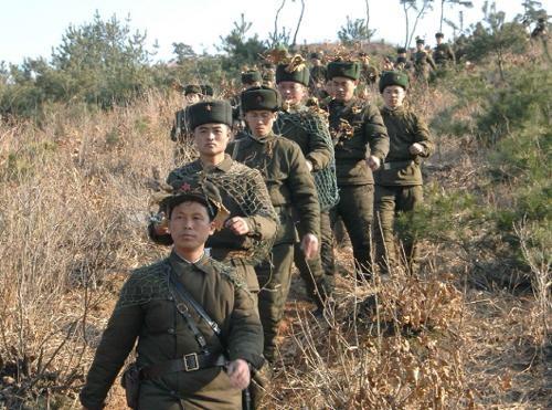 Một nhóm lính biên phòng Triều Tiên