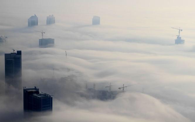 Thành phố Dubai chìm đắm trong sương mù - ảnh 6
