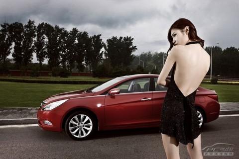 Mỹ nhân khoe sắc bên Hyundai Sonata - ảnh 2