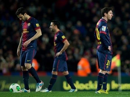 Barca đang phải nhận những thất bại nặng nề